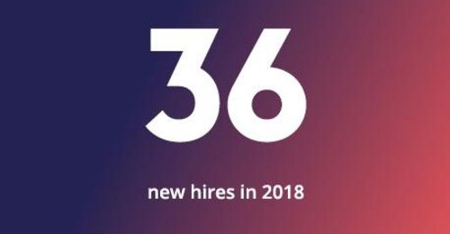 36 new hires in 2018